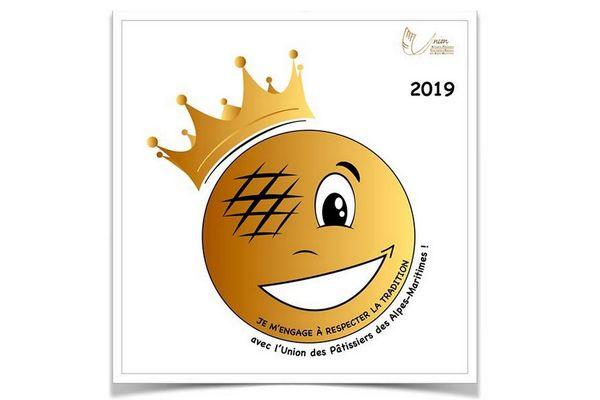 Le label de la charte de la galette des rois par l'Union des Artisans Pâtissiers Chocolatiers Glaciers des Alpes-Maritimes