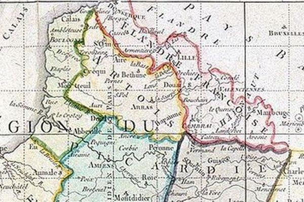 Projet de création de 3 départements dans le Nord, par L.Hennequin, topographe du Roi (1789)