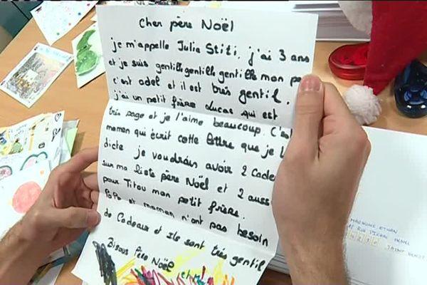 La lettre de Julie au Père Noël.