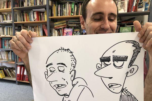 Zerocalcare, l'auteur de BD italien de passage à Paris