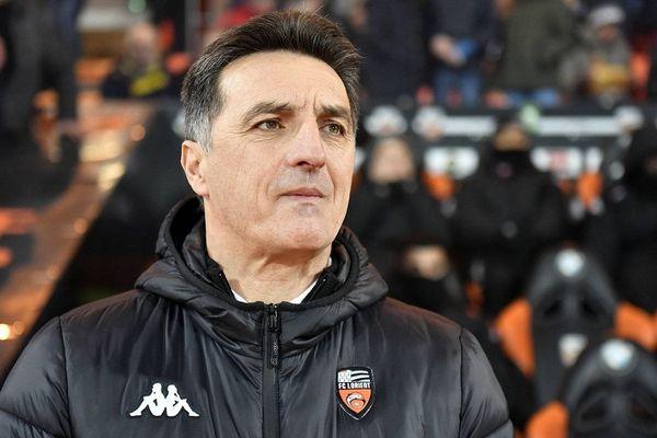 """Christophe Pélissier, l'entraîneur du FC Lorient, est un """"expert"""" en terme de montée. Lorient est le 7ème club qu'il fait évoluer."""