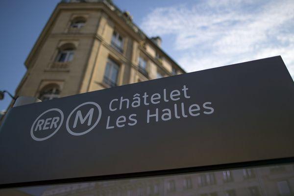 La station, Châtelet-Les Halles, à Paris.