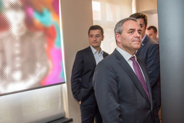 Xavier Bertrand a visité la maison natale du Général de Gaulle à Lille, le 18 juin 2015.