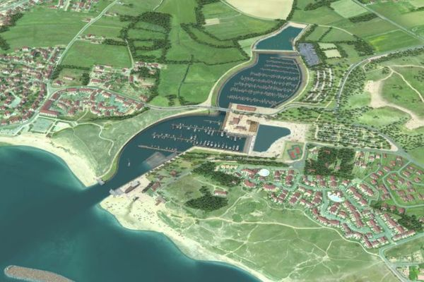 L'esquisse du port de plaisance de la Normandelière