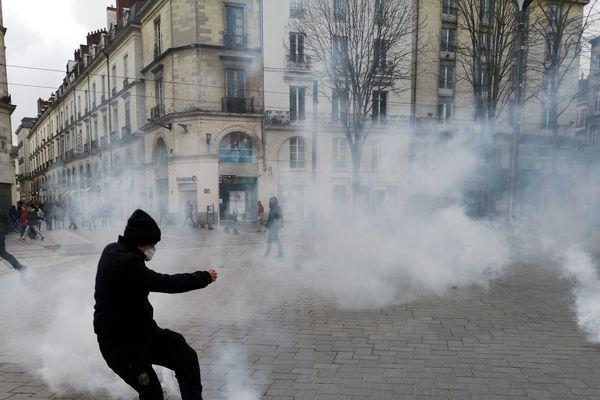Manifestation des Gilets jaunes à Nantes, le 9 février 2019
