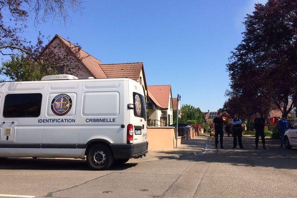 Un technicien d'identification criminelle a été dépêché rue des sapins à Mundolsheim