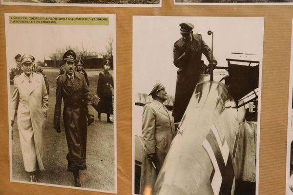 Photos d'Hermann Göring et Adolf Galland à Audembert le 5 décembre 1941.