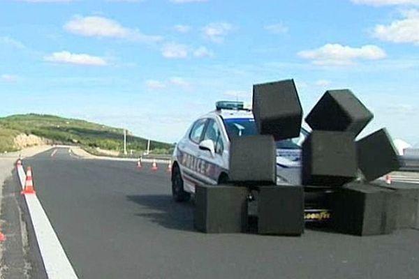 Mireval (Hérault) - les policiers héraultais en stage sur le circuit - 7 octobre 2013.