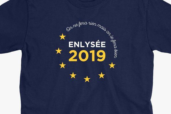 Le T-Shirt de support d'Enlysée pour les élections européennes