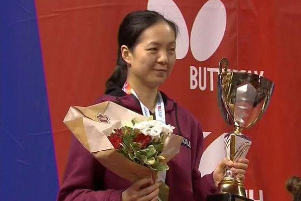 Le Mans (Sarthe) - Jia Nan Yuan remporte son 5e titre de championne de France de tennis de table - 3 mars 2019.