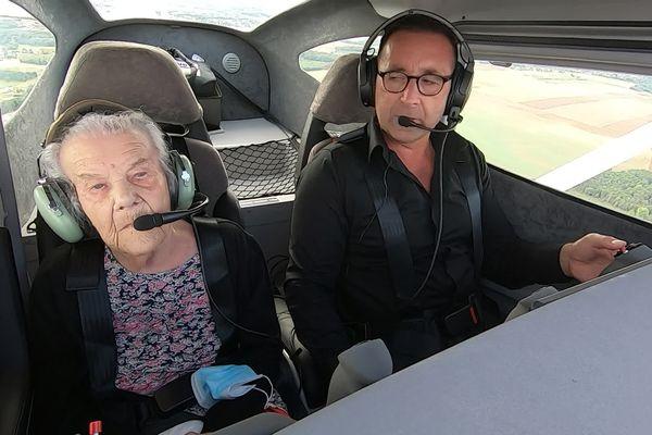 Marie-Louise 101 ans survole sa Haute-Saône.
