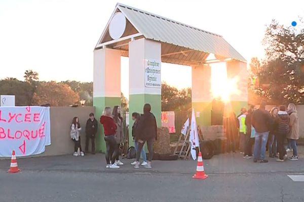 Le lycée agricole de Borgo est bloqué depuis une semaine.
