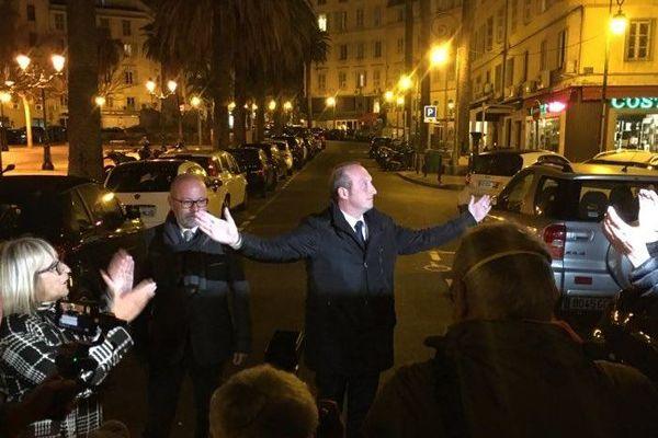 Laurent Marcangeli, au soir de sa victoire aux Municipales, le 15 mars dernier