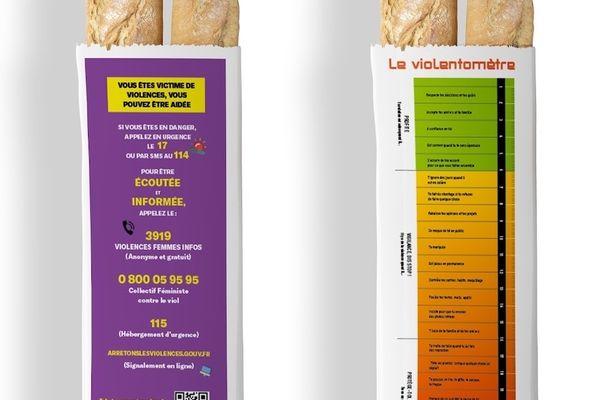 Un violentomètre pour alerter les femmes sur des emballages de pain