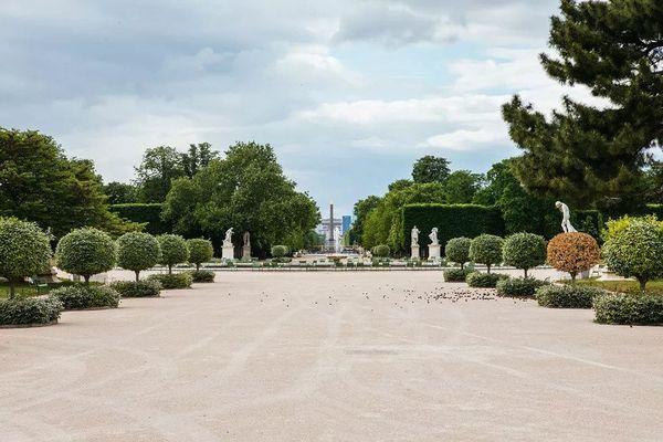 Le jardin des Tuileries, au cœur de Paris, où doit être installé le Mémorial • ©Mathieu Menard / Hans Lucas / Hans Lucas via AFP