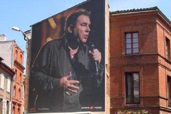 Claude Nougaro figure déjà sur les murs de Toulouse