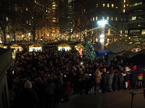 L'inauguration du marché de Noël Strasbourg Alsace à New York