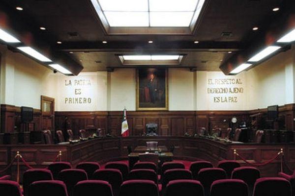 Intérieur de La Cour Suprême de justice à Mexico.