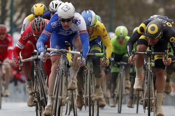 Arnaud Démare (ici sur la Paris-Nice), a dû abandonner sur le Tour des Flandres