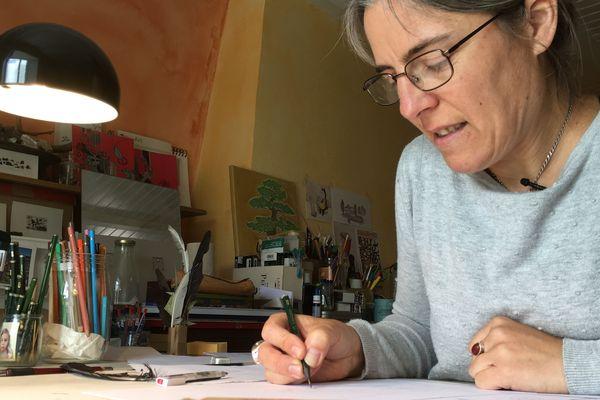 """Marion Janin, auteur de """"L'enfant errant""""."""