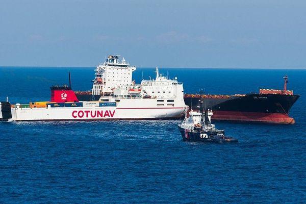 Collision entre deux navires au large du cap Corse.