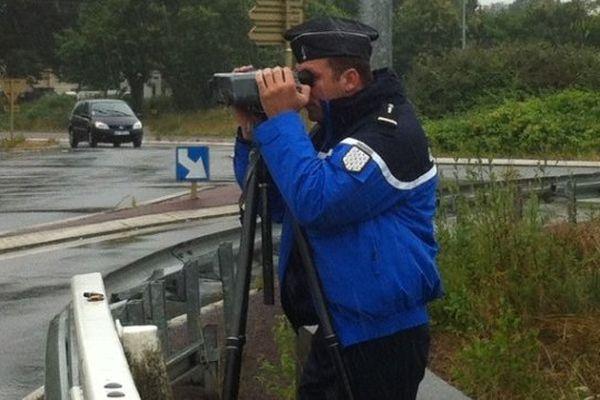 Opération de contrôle de vitesse en Ille-et-Vilaine.