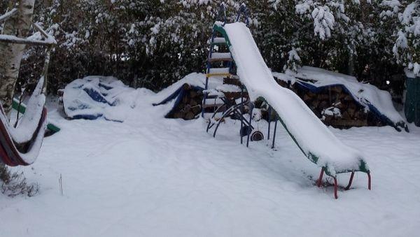Il a neigé à Baraqueville (Aveyron)