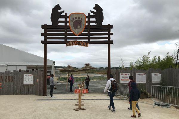 Entrée du zoo-refuge La Tanière, le 3 août 2021.
