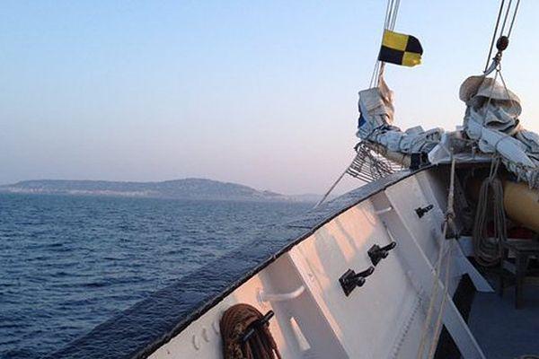 Vue de Sète depuis la goélette Santa Maria Manuela mardi 22 mars aux alentours de 7 heures