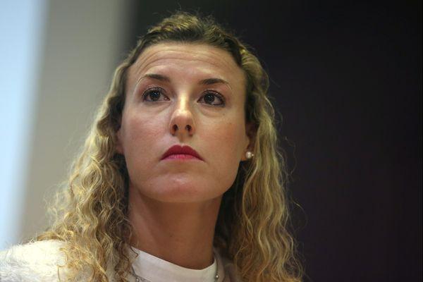 Bethoncourt le 04/12/2019 - L'athlète Ophélie Claude-Boxberger s'exprime sur son affaire de dopage lors de l'assemblée générale du Montbéliard Belfort Athlétisme (MBA) à Bethoncourt.