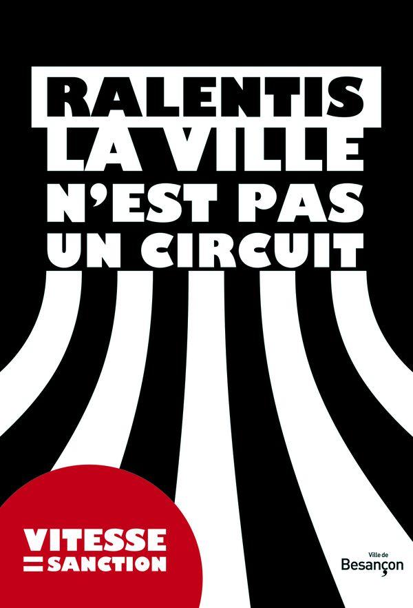 Affiche de la campagne de sensibilisation à Besançon
