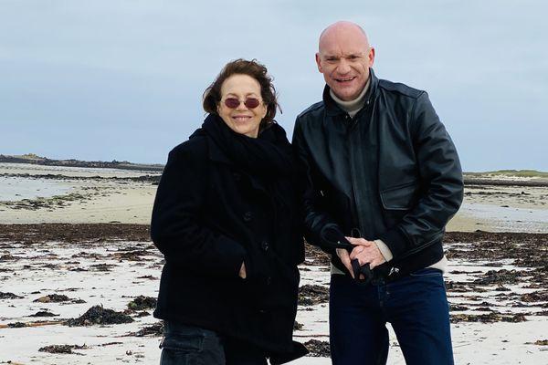 Gaëtan Roussel et Jane Birkin sur le plage Sainte-Marguerite pour Abers Road #02