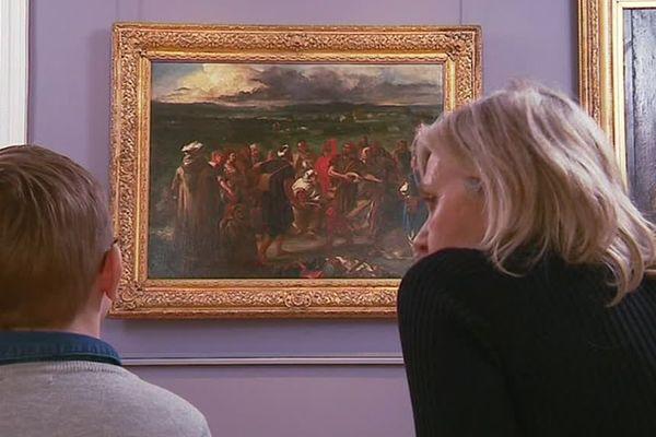 """Eugène Delacroix : l'œuvre """"Comédiens ou Bouffons arabes"""" au musée des Beaux Arts de Tours"""
