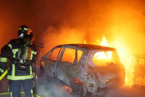Incendie d'une voiture à Kingersheim.