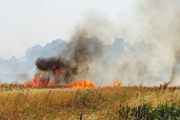 Jeudi les pompiers ont du faire face à un important incendie de culture à Villliers-Charlemagne