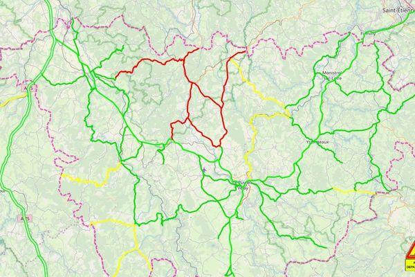 La circulation est parfois délicate sur les routes de Haute-Loire jeudi 27 février.