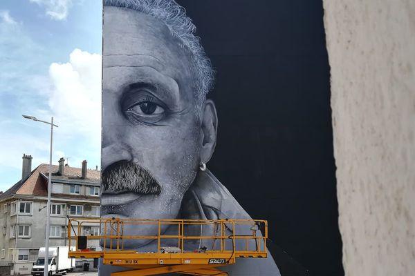 Trois jours de travail ont été nécessaires à l'artiste gardois Swed Oner pour réaliser cette fresque au Minck.