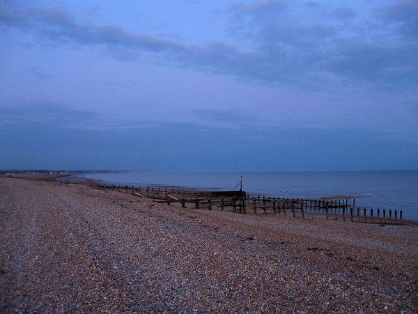 La baie de Pevensey dans l'East Sussex, au sud de l'Angleterre.