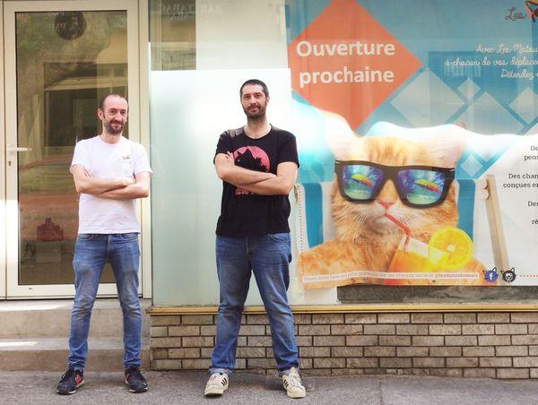 Julien Gilbert et Benoît Petit, co-fondateurs des Matoulonnais