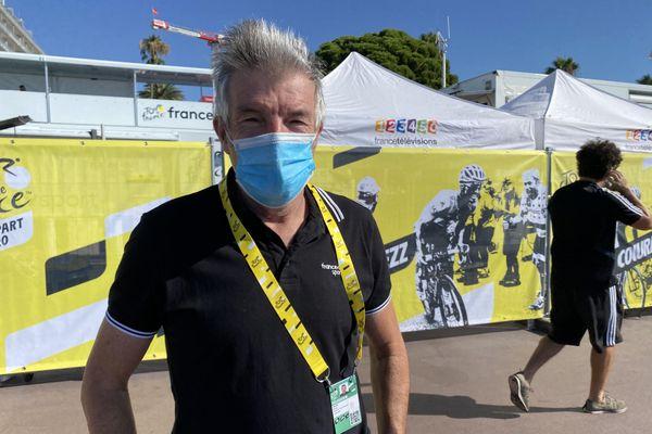 Ronan Pensec, 8 Tour de France en tant que coureur et 22 comme consultant en réalisation.
