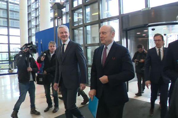 Le ministre de l'Economie Bruno Le Maire et le maire de Bordeaux Alain Juppé