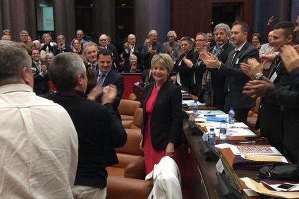 Marie-Guite Dufay a été élue présidente de la région Bourgogne Franche-Comté lundi 4 janvier 2016