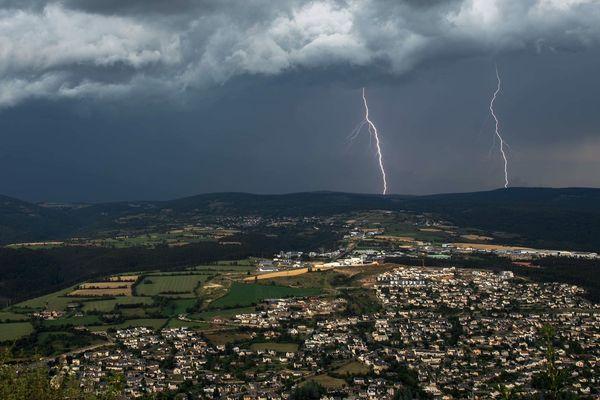 Orage en Lozère - août 2018.