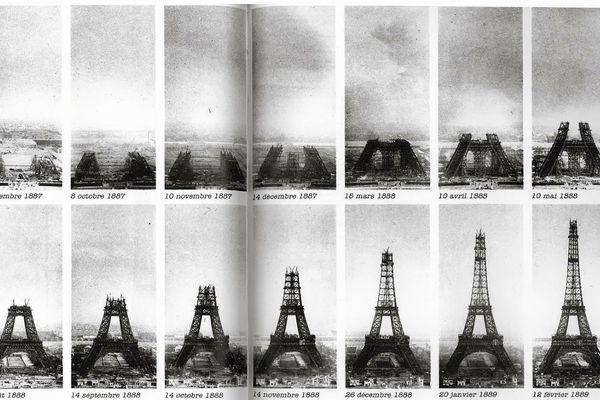 Les étapes de la construction de la tour Eiffel il y a 130 ans
