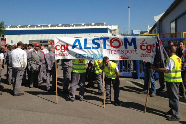 Les NAO (négociations annuelles obligatoires) se déroulent dans un climat tendu sur le site d'Alstom au Creusot, en Saône-et-Loire.