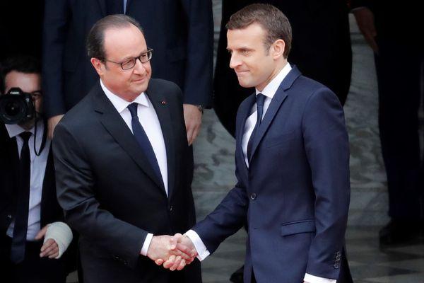Arrivée d'Emmanuel Macron au Palais de l'Élysée à 10 heures dimanche 14 mai 2017