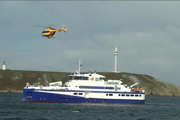 Exercice Orsec sur le Fromveur : évacuation des blessés graves par hélicoptère