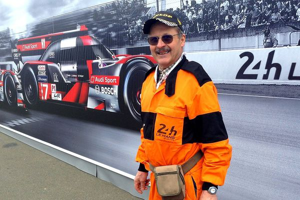 Jacques Melis, commissaires de piste de la plus grande course d'endurance au monde. 49e participation à son compteur