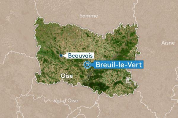 Une voiture a été percutée par un train de marchandises à Breuil-le-Vert dans l'Oise.