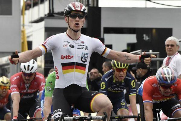 André Greipel  à l'arrivée de la 5è étape du Paris-Nice